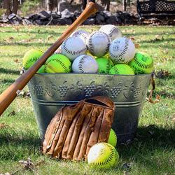 Softball Themed Invitations